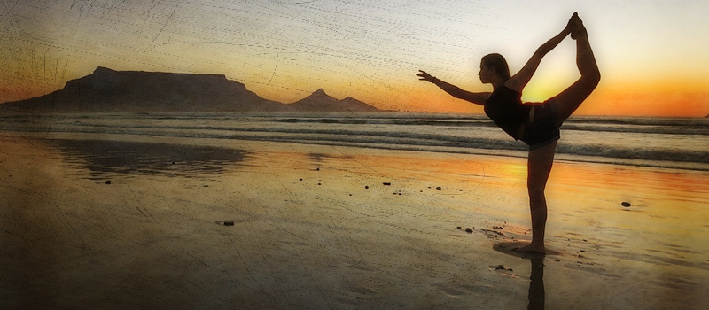 Vacation Beach Girl Sunset Yoga Summer Female